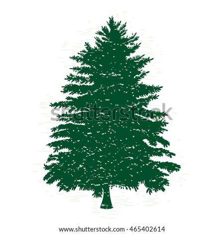 hand drawn textured fir tree vector stock vector 465402614 rh shutterstock com pine tree vector free pine tree vector logo