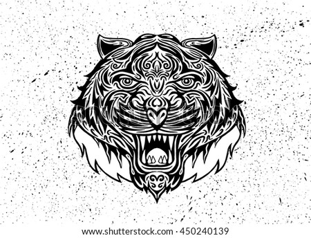 Psychedelic tiger tattoo - photo#26