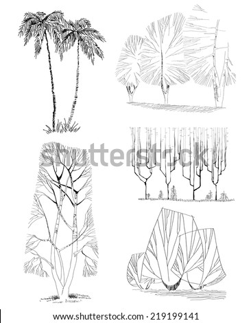 Architectural Drawing Set architectural plant stock photos, royalty-free images & vectors