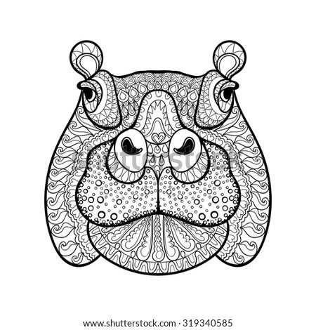tribal animal coloring pages - photo#38