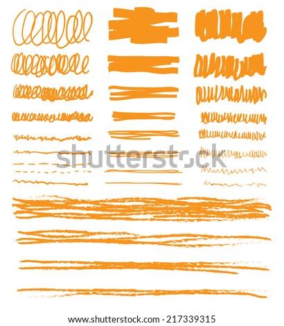 hand drawn underline, vector illustration. - stock vector