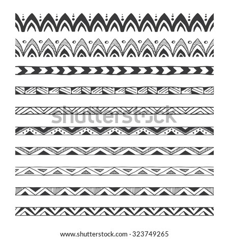 Tribal Border Stock Images Royalty Free Images Amp Vectors