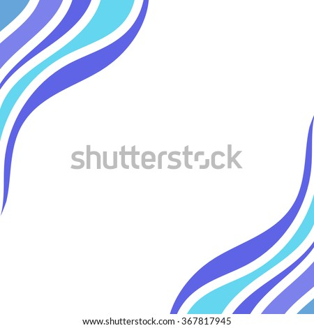 Hand drawn vector frame with wonderful curls - stock vector