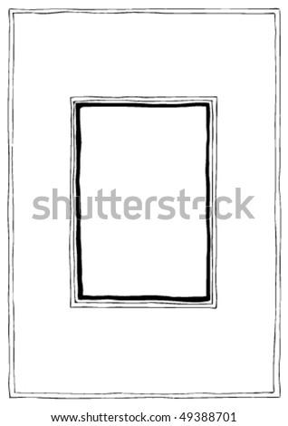 Hand drawn vector framework, doodle cartoon style - stock vector