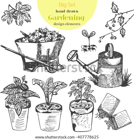 Garden Drawing Stock Images Royalty Free Images Vectors