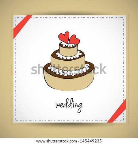 Chalk Drawing Of A Wedding Cake