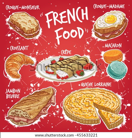 Crepe stock vectors images vector art shutterstock for All about french cuisine
