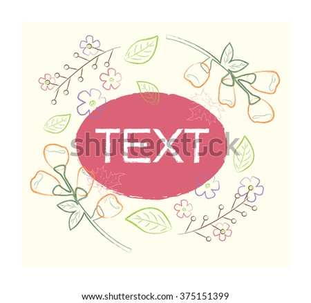 Hand-drawn vector seamless with flowers. Used for wallpaper, pattern fills the background of your page, textured surface - stock vector
