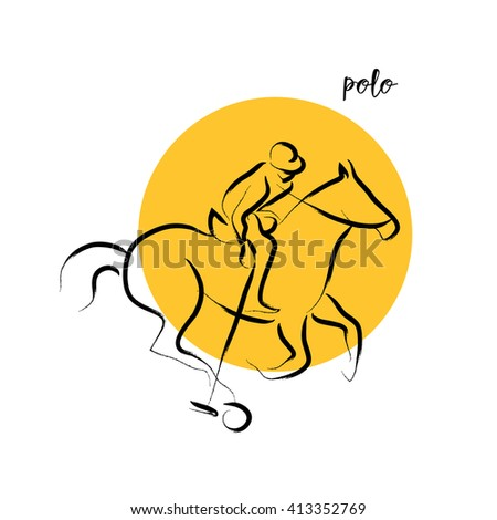 Hand drawn vector sport athlete silhouette isolated. Sportsman figure on white background. Human portrait. Dynamic moving illustration. Sketch. Ink drawing. - stock vector
