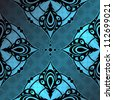 hand-drawn vintage cool retro background with intricate seamless pattern - stock photo