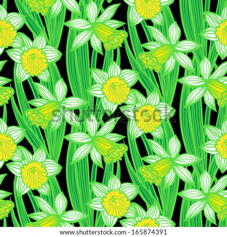 daffodils and patterns