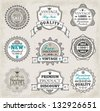Hand drawn vintage labels - stock vector