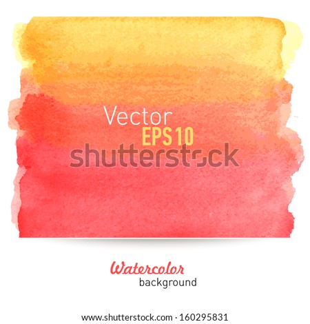 Hand-drawn water-color background. Vector illustration. - stock vector