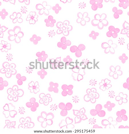 hand drawn watercolor floral seamless pattern. vector illustration