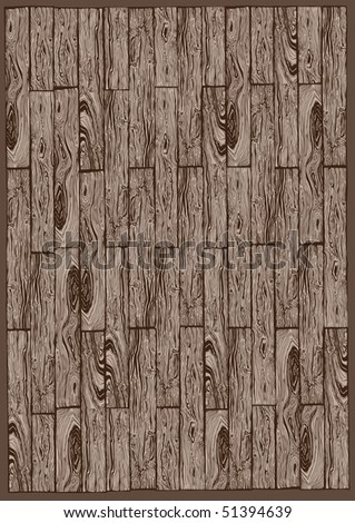 Hand drawn wooden pattern - stock vector