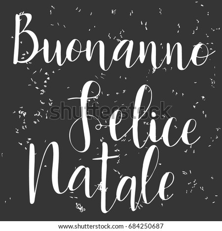 Hand drawn words italian happy new stock vector royalty free hand drawn words in italian happy new year and merry christmas m4hsunfo