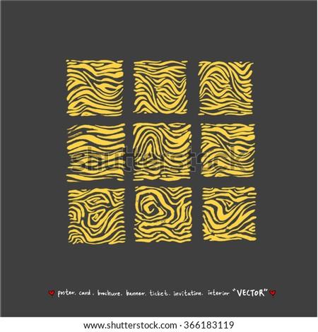 Hand drawn Zebra print - vector - stock vector