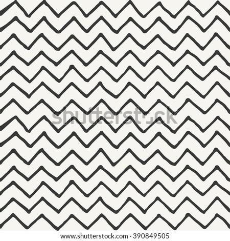 hand drawn zigzag pattern design. vector illustration - stock vector