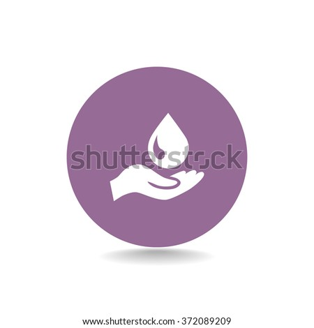 hand drop - stock vector