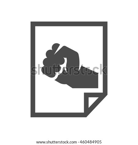 Hand fist icons in single color. Vintage propaganda poster - stock vector