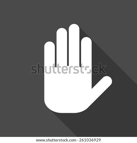 hand. flat icon. vector illustration - stock vector