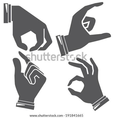 hand gesture sign - stock vector