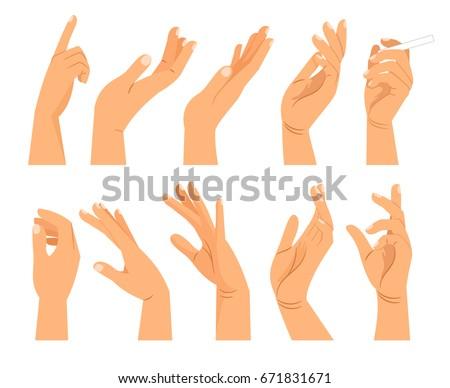 hand gestures different positions vector hands stock vector hd rh shutterstock com vector handgun vector handle