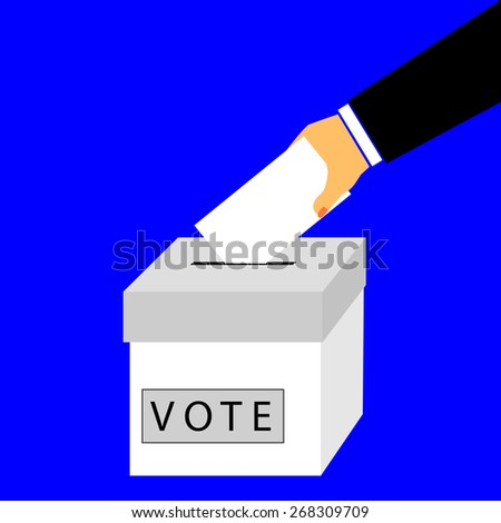 Hand - Give a Vote  - stock vector