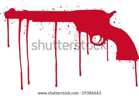hand gun - stock vector