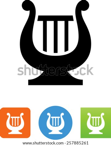 Hand held harp. Vector icons for video, mobile apps, Web sites and print projects.  - stock vector