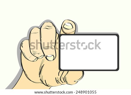 hand hold card,