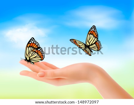 Butterfly Holding Hands