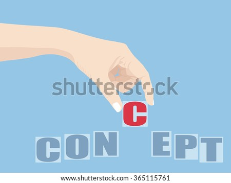 Hand Holding Concept word, Vector Illustration EPS 10.