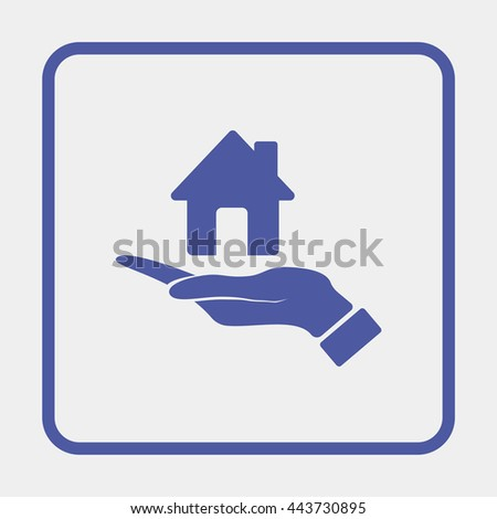 Hand holding house. - stock vector