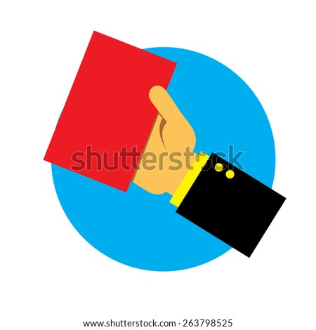 Hand holding id card - stock vector