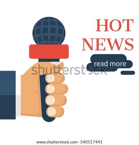 Live News, Report Template. Journalism Concept. Journalist, Reporters