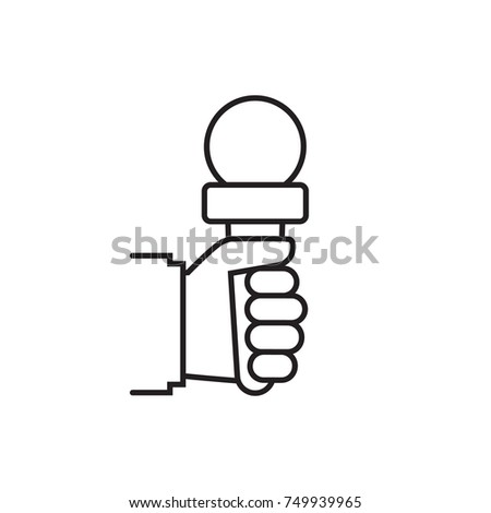 Journalist Holding Microphone Journalism Concept Live Vector – News Report Template