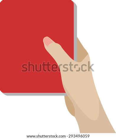 hand holding notebook. - stock vector