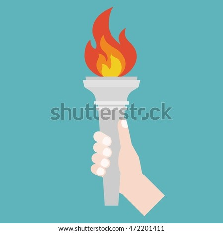 hand holding Torch symbol flat design  sc 1 st  Shutterstock & Torch Logo Stock Images Royalty-Free Images u0026 Vectors | Shutterstock azcodes.com