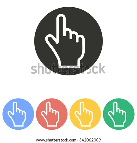 Hand   icon  on white background. Vector illustration.