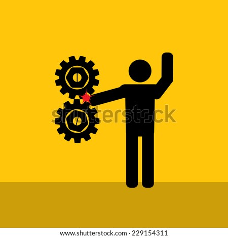 hand injury : be careful prevent accidents : Safety : health icon vector - stock vector