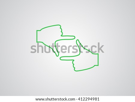 hand lens, web icon. vector design