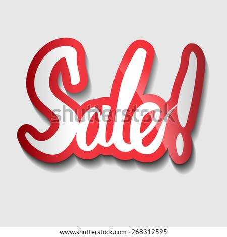 Hand lettered - Sale. Sticker.