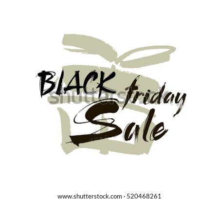 Hand lettering. Black Friday sale. Modern style calligraphy brush. Vector
