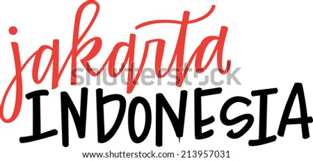 Hand-lettering of Jakarta, Indonesia