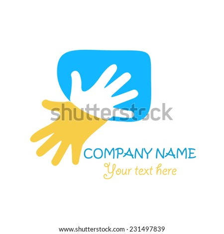 Hand logo design - stock vector