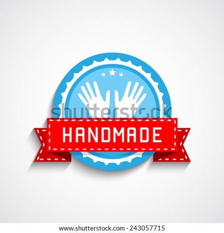 Hand Made Label - stock vector