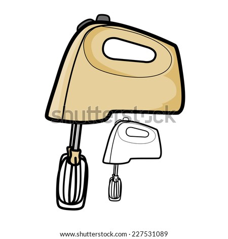 Hand Mixer - stock vector