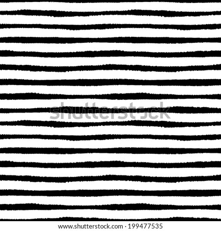 Hand painted brush strokes seamless pattern, striped background. Vector illustration - stock vector