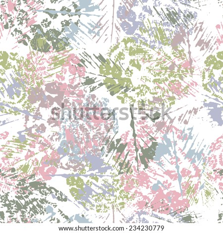 Hand painted textured  abstract seamless pattern . All objects are conveniently grouped  and are easily editable. - stock vector